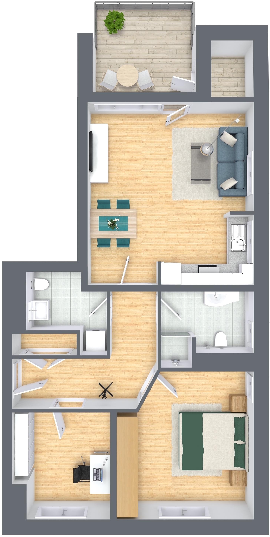 der klassiker im obergeschoss d4 oliver klenz der immobilienprofi. Black Bedroom Furniture Sets. Home Design Ideas