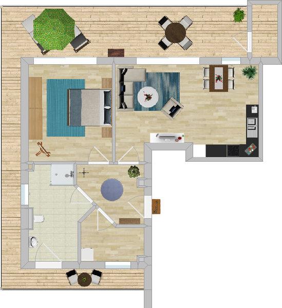 unser kleinstes penthouse a9 oliver klenz der immobilienprofi. Black Bedroom Furniture Sets. Home Design Ideas