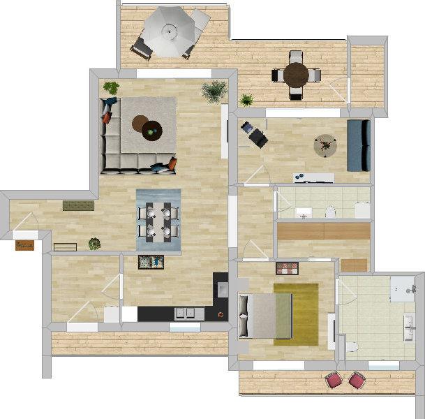 das 3 zimmer penthouse ab9 oliver klenz der immobilienprofi. Black Bedroom Furniture Sets. Home Design Ideas