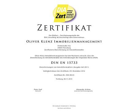 Rezertifizierung nach DIN EN 15733