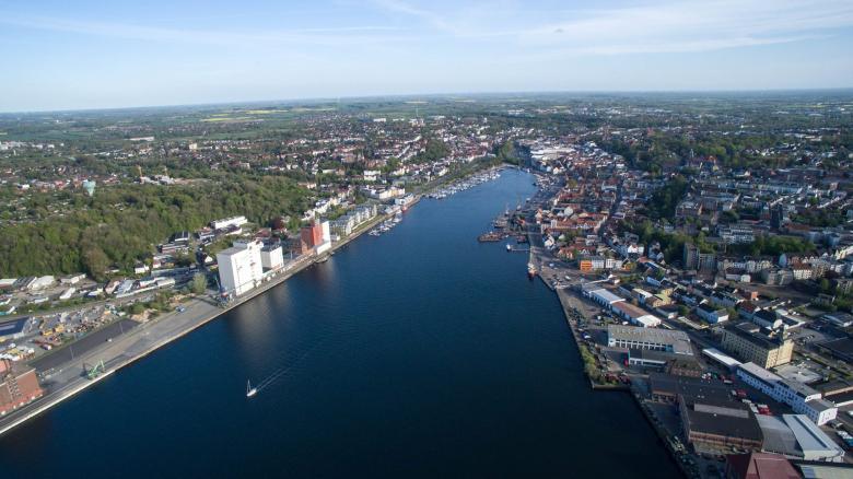 Flensburger Förde in Richtung Hafenspitze