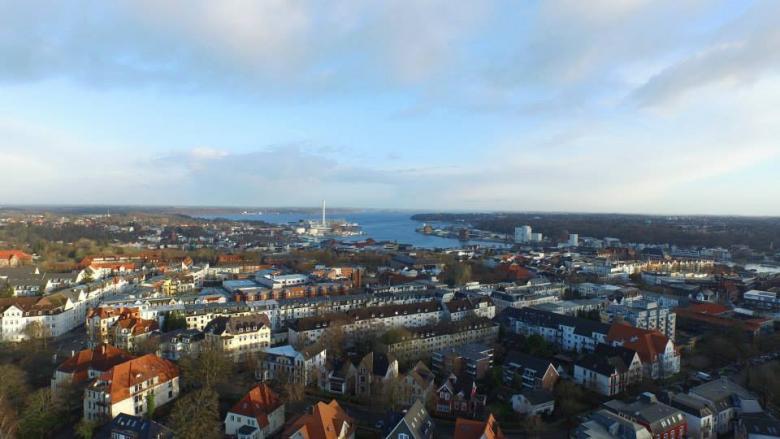Stadtteil Westliche Höhe mit Blick zur Innenförde
