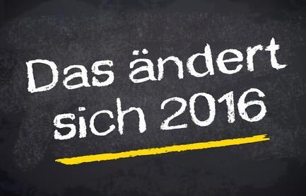 Veränderungen im neuen Jahr 2016